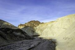 金黄峡谷,死亡谷国家公园加利福尼亚 库存照片