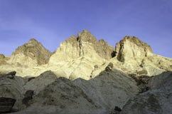 金黄峡谷,死亡谷国家公园加利福尼亚 免版税库存照片