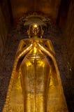 金黄常设菩萨在塔Bagan 库存图片