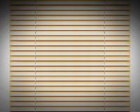 金黄水平的窗帘窗口装饰 免版税库存照片