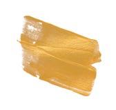 金水彩纹理油漆污点摘要 库存图片