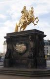 金黄御马者 德累斯顿 德国 免版税库存图片