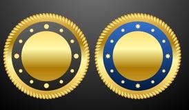 金黄徽章 向量例证