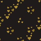 金黄心脏无缝的样式 皇族释放例证