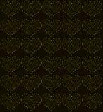 金黄心脏,无缝的周期性样式,爱标志背景 免版税库存图片