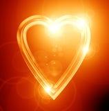 金黄心脏 库存图片