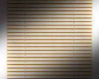 金黄或yelow水平的窗帘窗口装饰内部 免版税库存图片