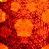 金黄抽象橙色六角分数维的飞机- 免版税库存图片