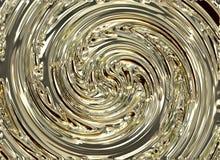 金黄旋涡漩涡光亮的背景 免版税库存照片