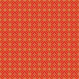 金黄无缝的中国窗口网眼图案多角形花纹花样背景 免版税库存图片