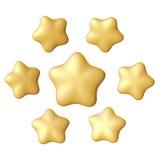 金黄星形 不同的角度 免版税库存图片