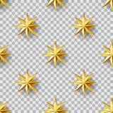 金黄星无缝的样式 免版税库存图片