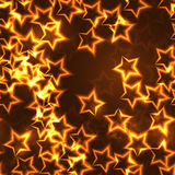 金黄星无缝的背景 免版税库存图片