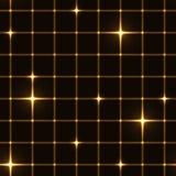 金黄栅格或网与闪闪发光 库存照片