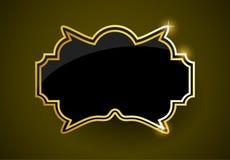 金黄标签 皇族释放例证