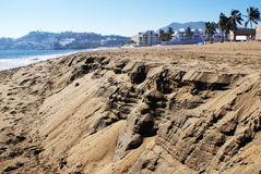 金黄沙子 库存图片