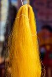 金黄泰国丝绸 免版税库存图片