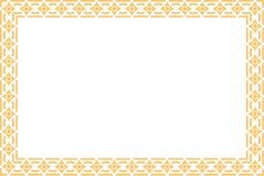 金黄泰国样式样式传统艺术 免版税库存图片