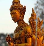 金黄泰国雕塑 库存照片