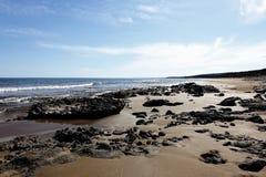 金黄海滩 库存图片