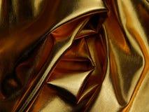 金黄物质缎关闭纹理  图库摄影