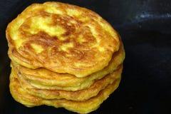 金黄玉米蛋糕 免版税库存照片