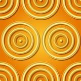 金黄环形 库存图片