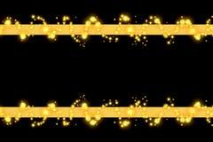 金黄的列 免版税库存图片