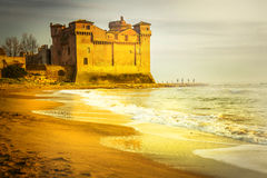 金黄的城堡 库存照片