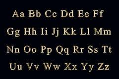金黄的字母表 图库摄影
