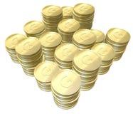 金黄的硬币 免版税库存照片