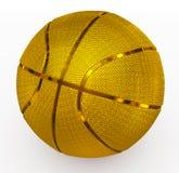 金黄的篮球 免版税库存图片