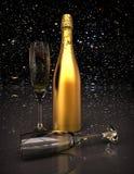 金黄的香槟 免版税库存照片