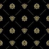 金黄皇家巴洛克式的样式 皇族释放例证