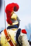 金黄盔甲的人 免版税库存图片