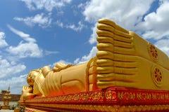 金黄睡眠菩萨Pha Luang 库存照片