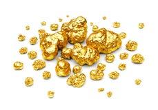 金黄矿块 免版税库存照片