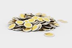 金黄硬币堆 库存图片