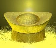 金黄硬币汉语  免版税库存图片