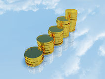 金黄硬币 免版税图库摄影