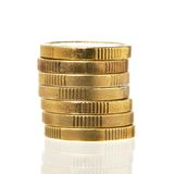 金黄硬币 免版税库存照片