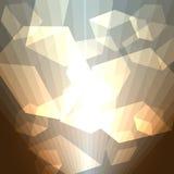 金黄立方体抽象背景 免版税图库摄影