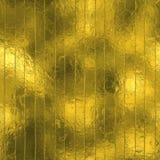 金黄箔无缝和Tileable豪华背景纹理 闪烁的假日起皱纹的金背景 图库摄影