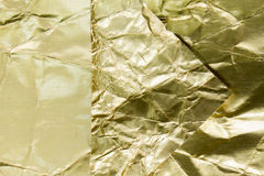 金黄箔被构造的和背景 免版税库存图片