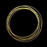 金黄箔镀金料金圈子  向量例证