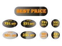 金黄贴纸最佳的价格 免版税库存图片