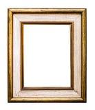 金黄老框架,隔绝在白色 免版税库存图片