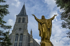 金黄耶稣 免版税库存照片