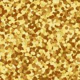 金黄背景的五彩纸屑 库存照片