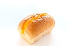 金黄黄色乳蛋糕面包店 库存图片